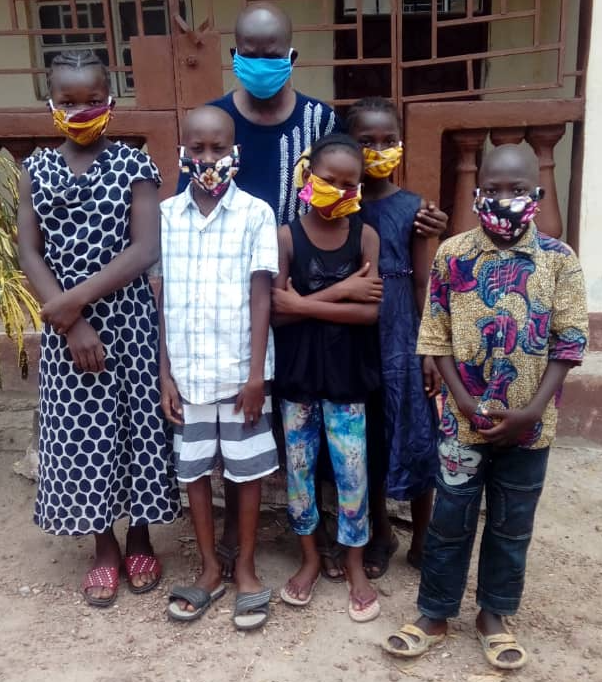 Facemasks in use at Mercy Children's Orphanage