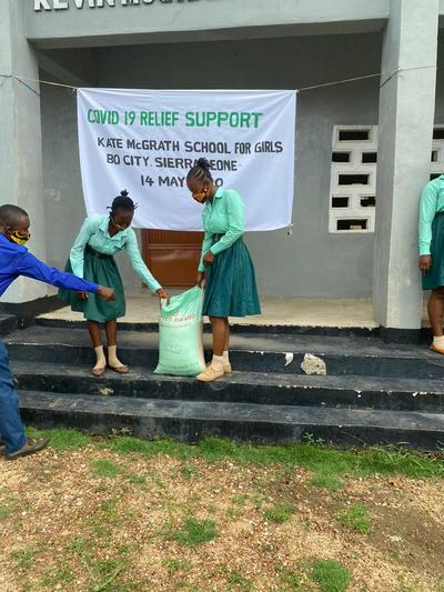 Kate McGrath School for Girls:     COVID-19 relief efforts